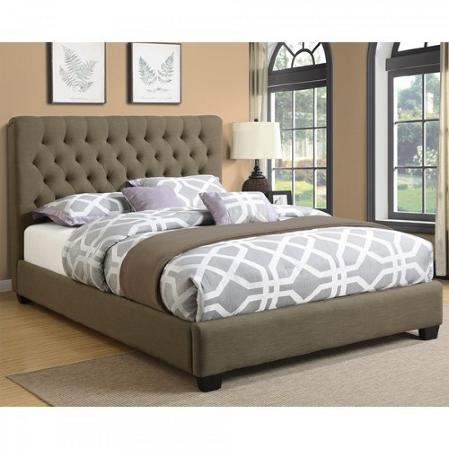 Image of: Fabric Upholstered Beds King
