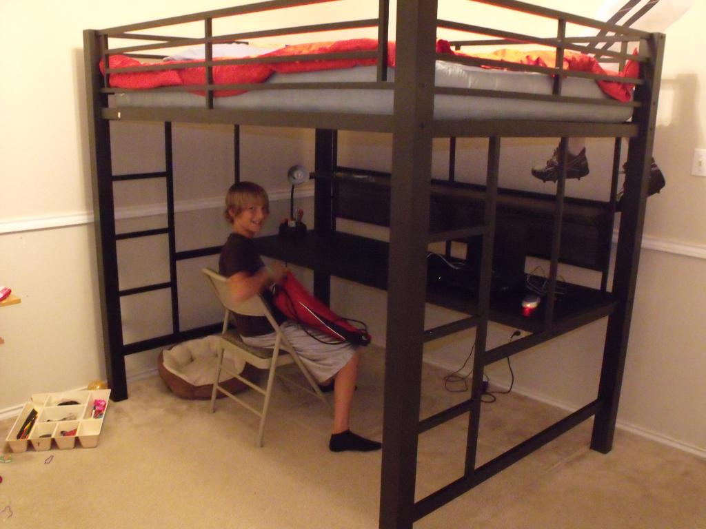 Image of: Full Loft Bed with Desk Photo