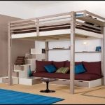 Full Size Loft Bed With Stairs Adult