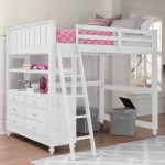 Full Size Loft Bed With Stairs Girl