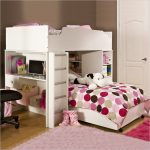 Full Size Loft Bed With Stairs Polkadots