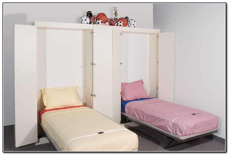 Image of: Girls Twin Wall Bed