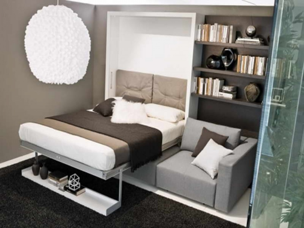 Image of: Good Twin Size Murphy Bed