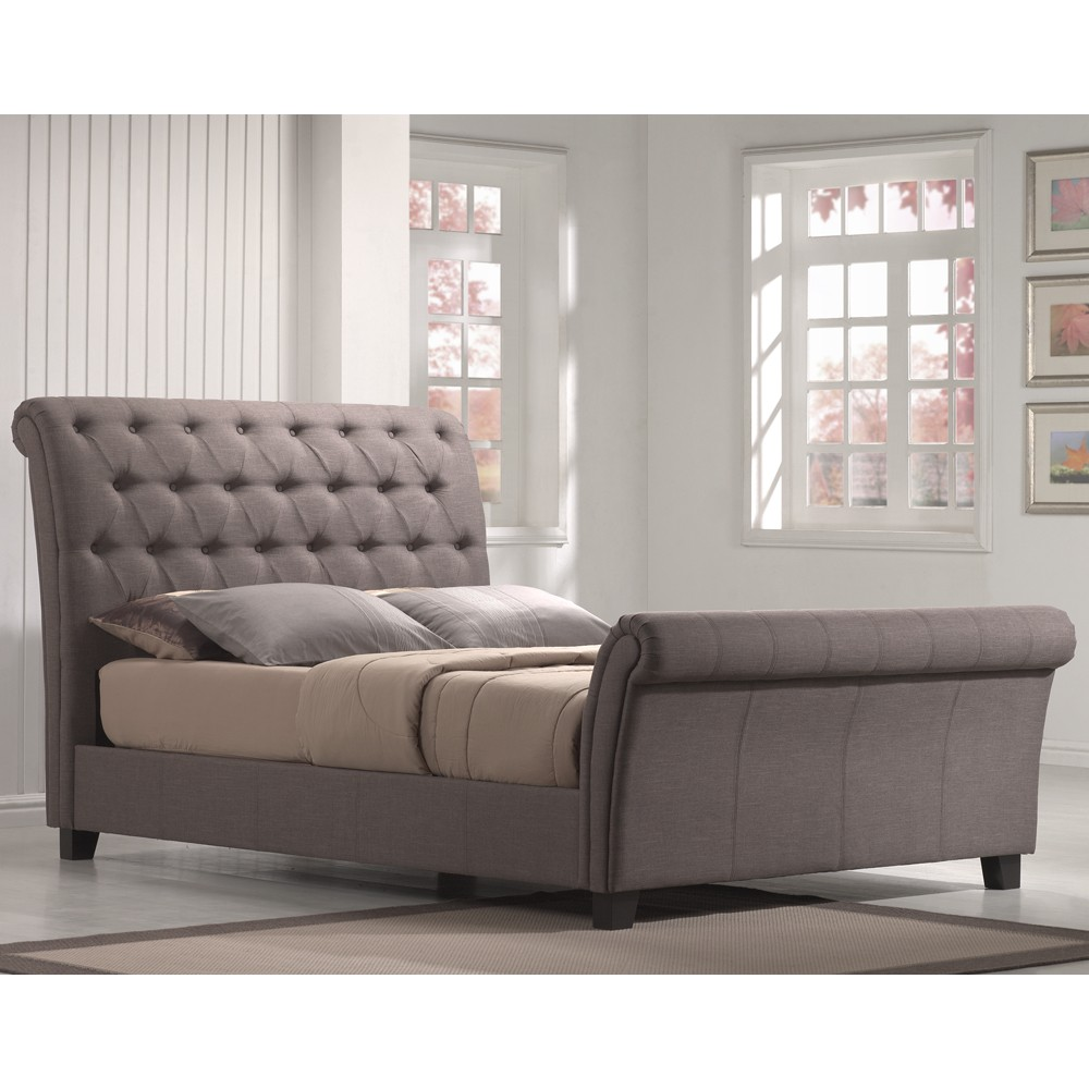 Image of: Gray Tufted King Bed