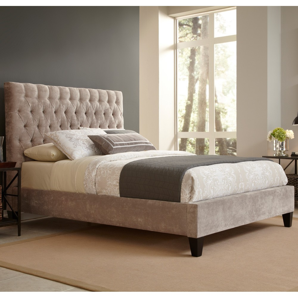 Image of: Ideas Tufted King Bed