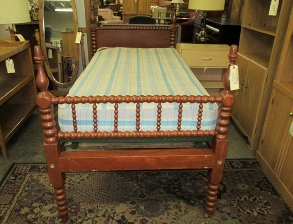 Image of: Jenny Lind Twin Bed Brown