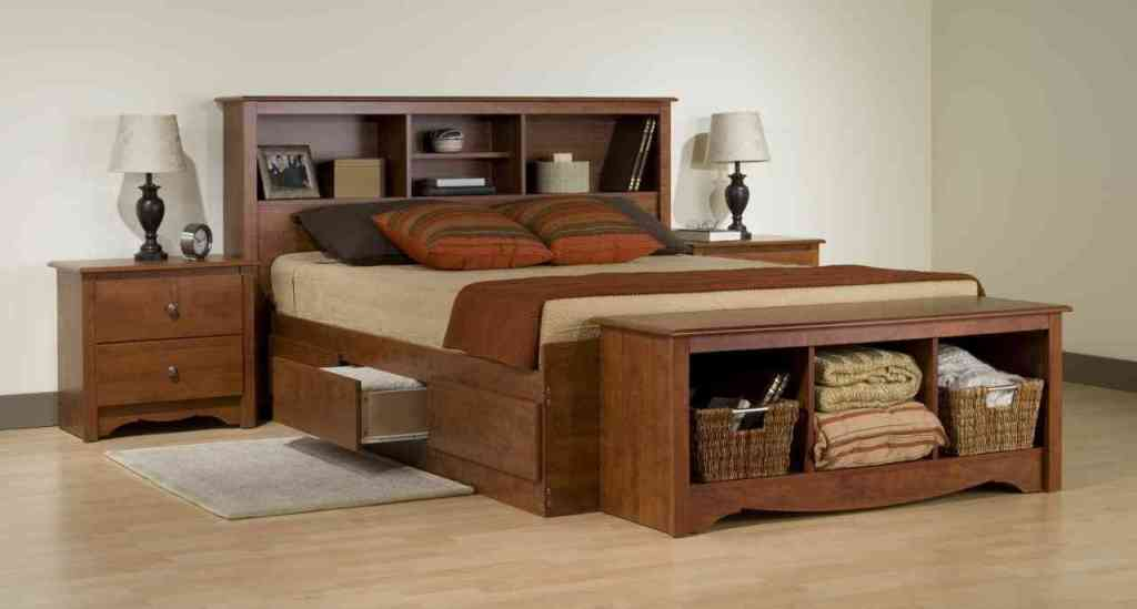 Image of: King Bed Frame With Drawers Image