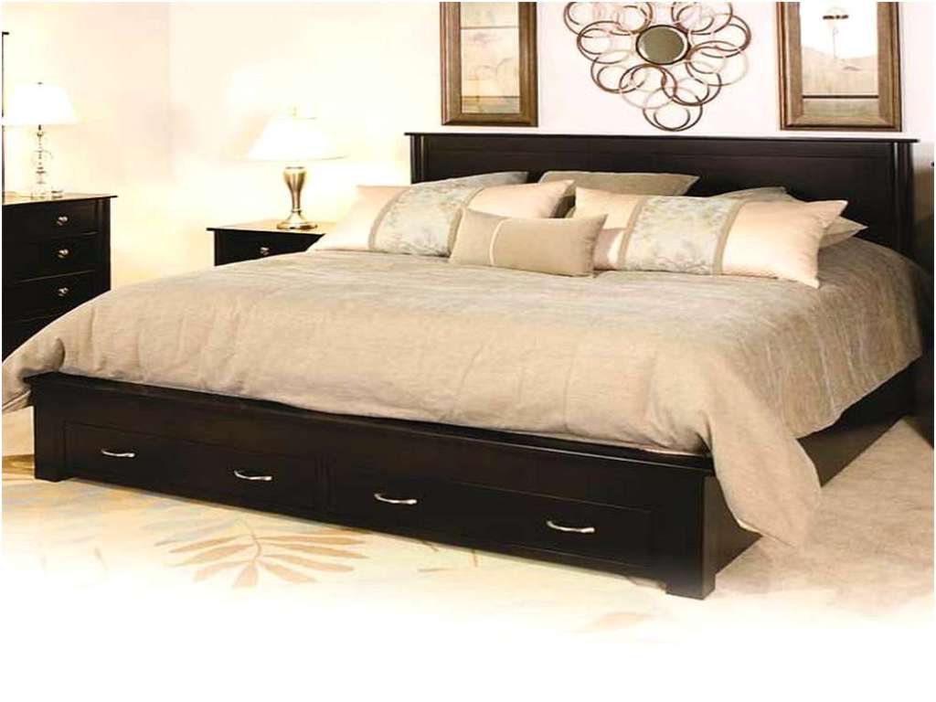 Image of: King Bed Frame With Drawers Underneath Plans