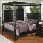 King Canopy Bed Black