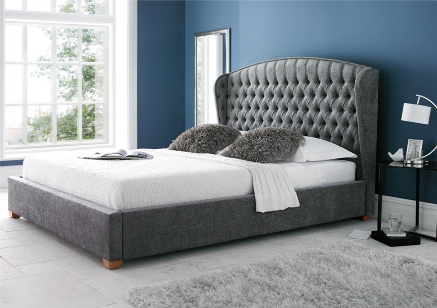 Image of: King Size Upholstered Bed Ideas