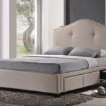 King Size Upholstered Bed With Storage