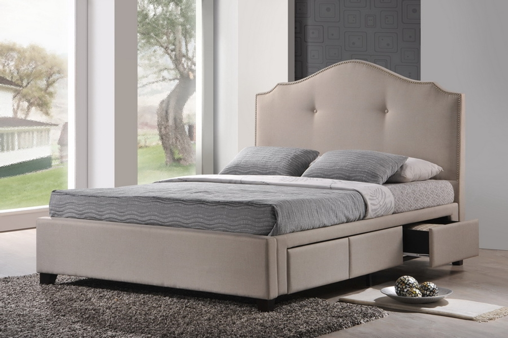 Image of: King Size Upholstered Bed With Storage