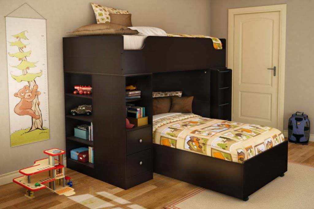 Image of: Loft Bed Twin Plans