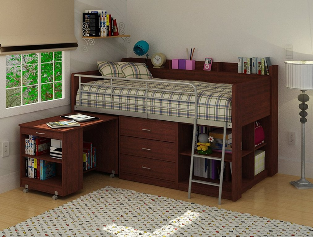 Image of: Loft Bed Twin with Desk
