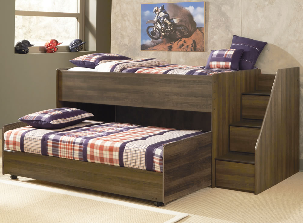 Image of: Loft Bed with Storage Steps Plans