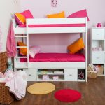 Loft Bed with Storage Red