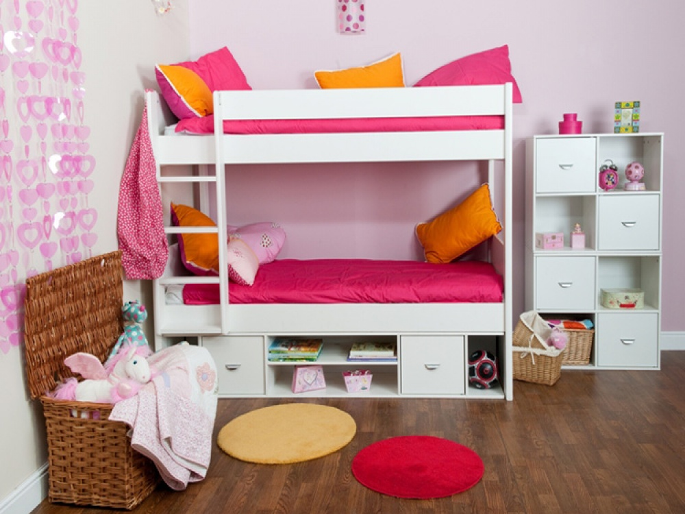 Image of: Loft Bed with Storage Red