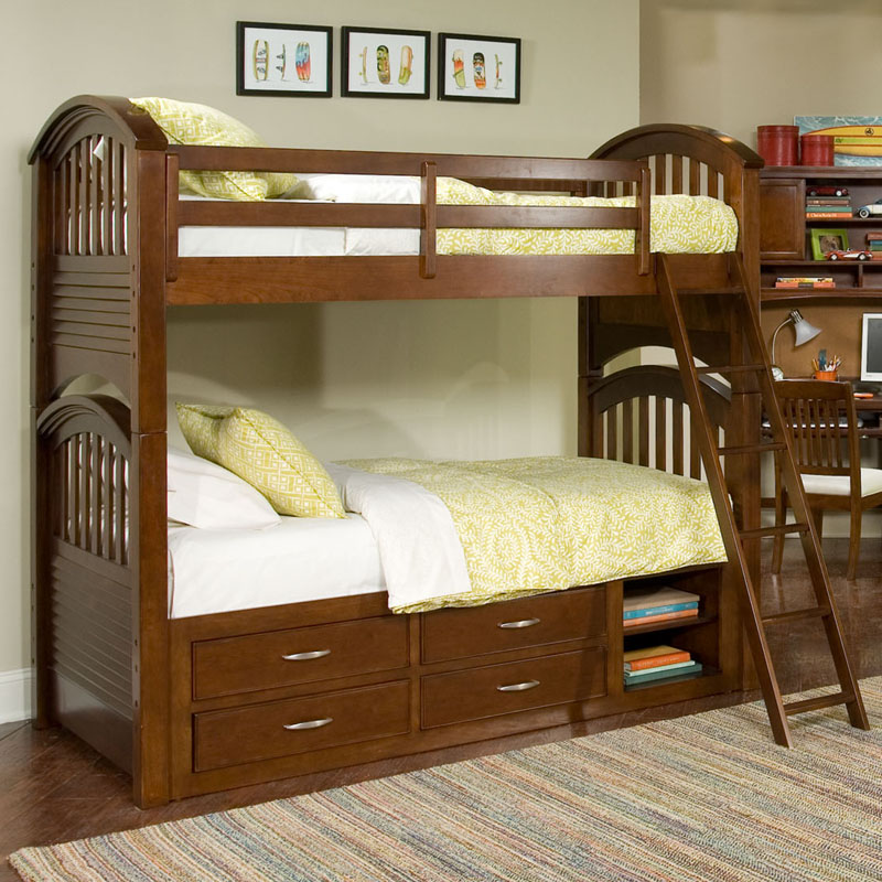 Image of: Loft Bed with Storage Stairs and Desk