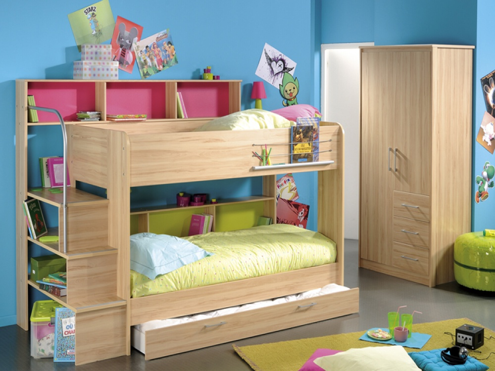 Image of: Loft Bed with Storage Underneath