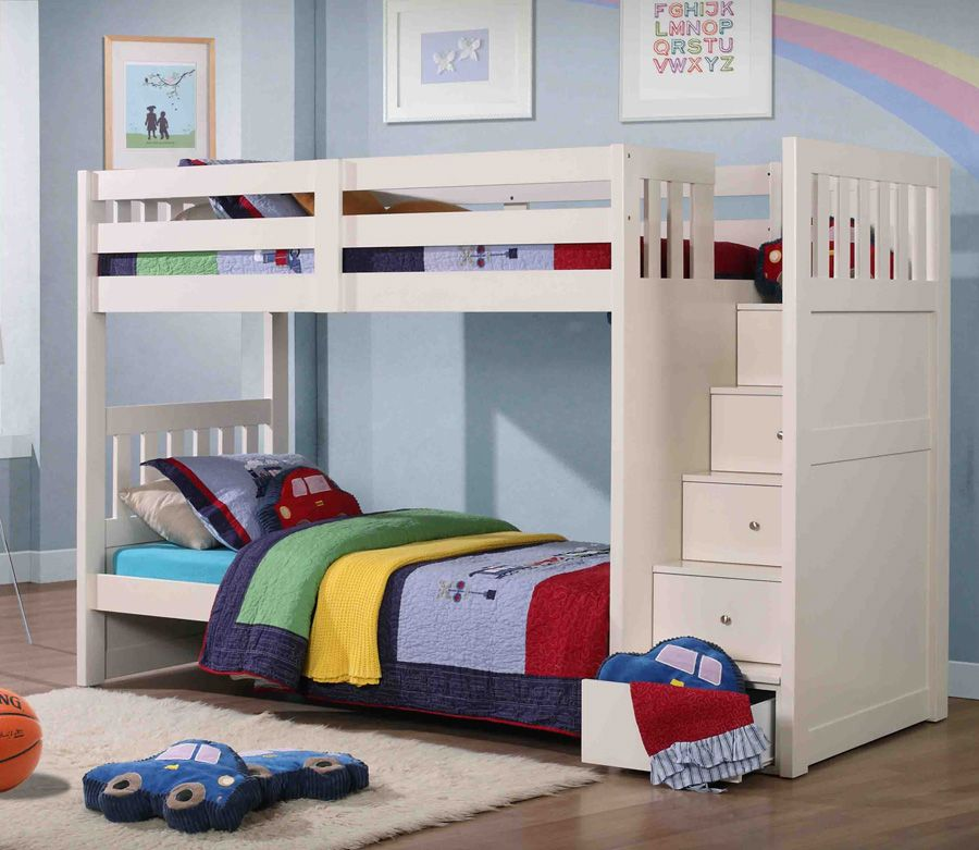 Image of: Loft Bed with Storage and Slide
