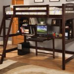 Loft Beds With Desk Brown