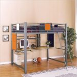 Loft Beds With Desk Gray