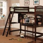 Loft Bunk Bed with Desk Brown