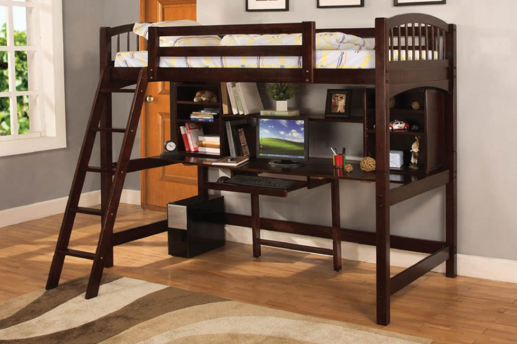 Loft Bunk Bed with Desk and Drawers