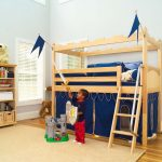 Low Loft Bed with Slide