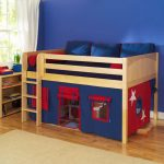 Low Loft Bed with Trundle
