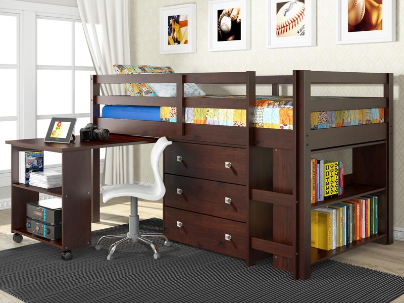 Low Loft Beds with Storage