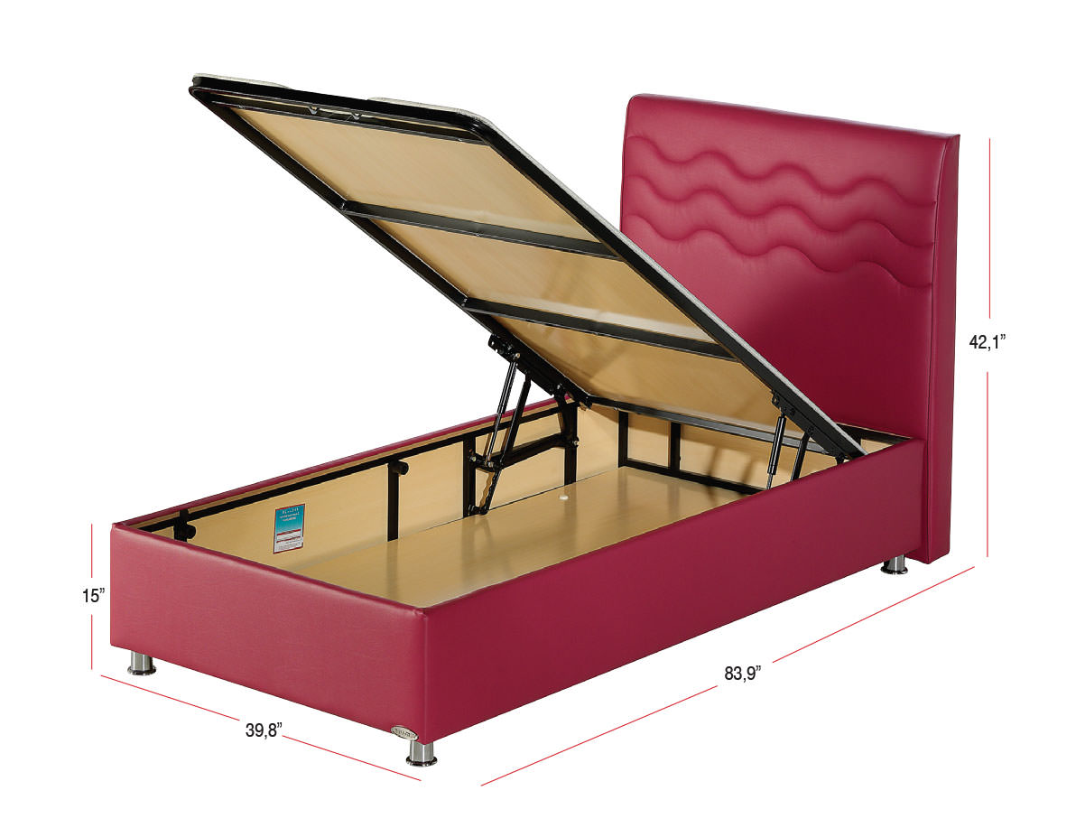 Image of: Make A Bed Frame With Storage