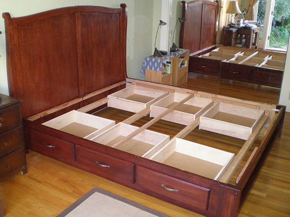 Image of: Making A Bed Frame With Drawers