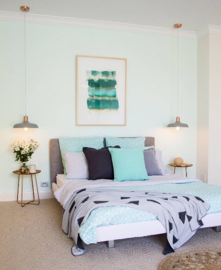 Image of: Mint Green Wall Ideas