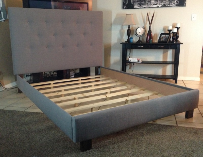 Image of: Modern King Size Bed Frame With Headboard