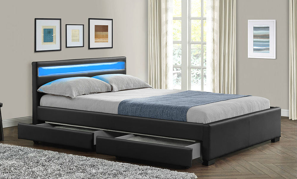 Image of: Modern King Size Bed With Drawers Style