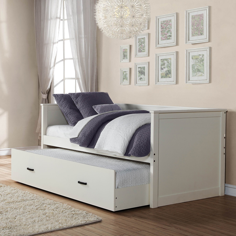 Modern Twin Bed With Trundle