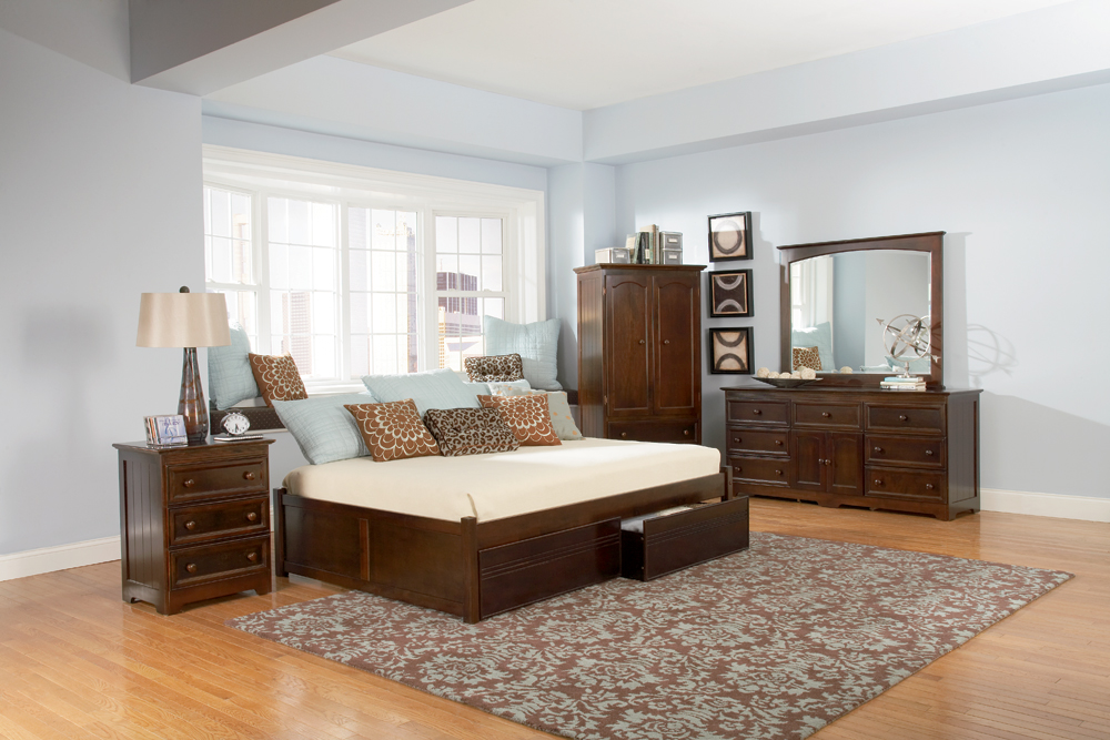 Image of: Modern Twin Bed Frame With Drawers