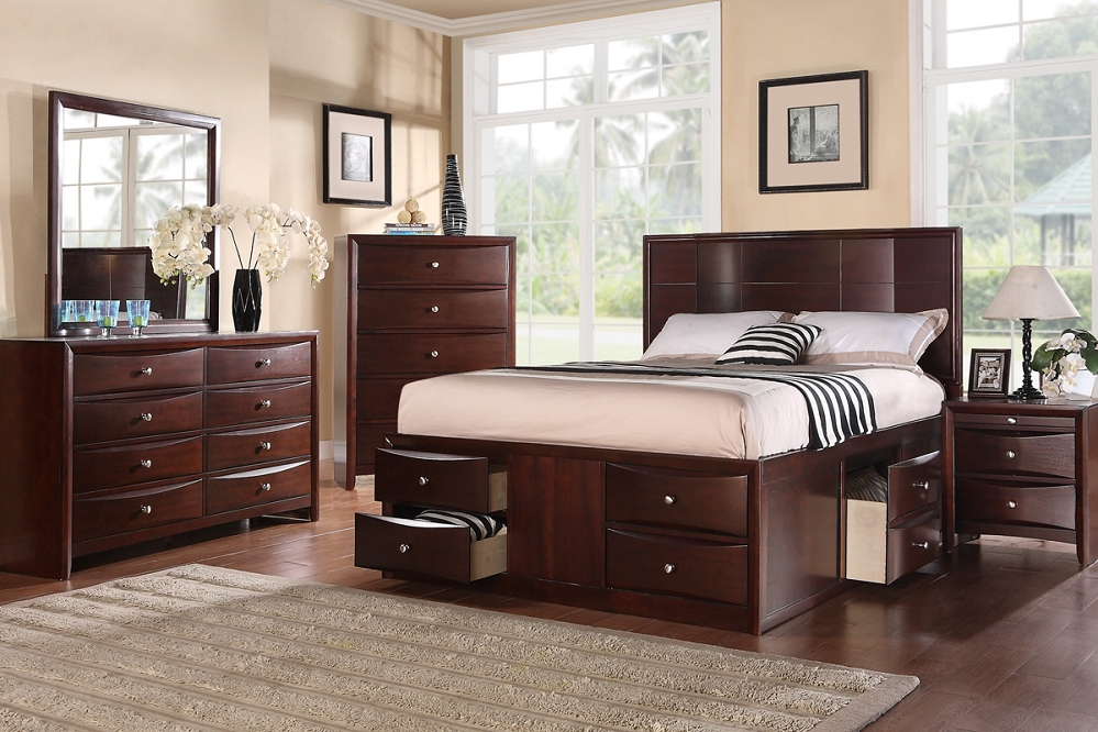 Image of: New King Size Bed With Drawers