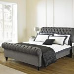 Nice King Size Upholstered Bed