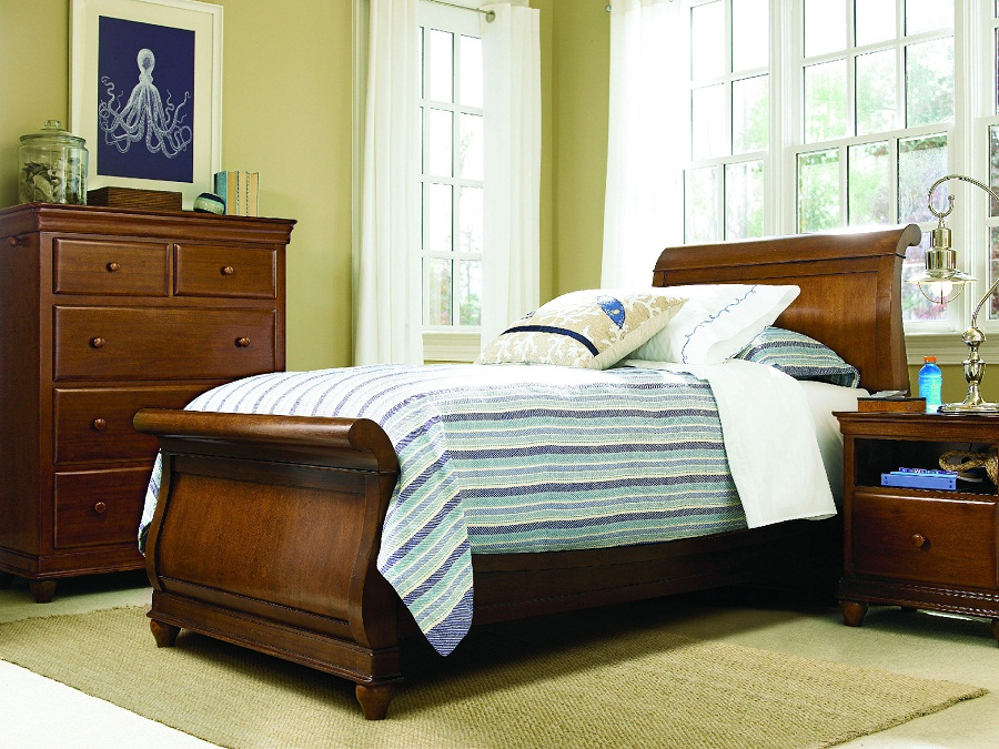 Image of: Nice Twin Sleigh Bed