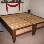 Plan Of Twin Bed Frame With Drawers