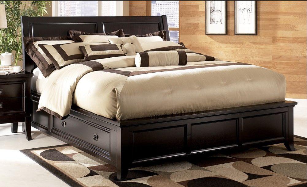 Image of: Popular King Size Bed With Drawers