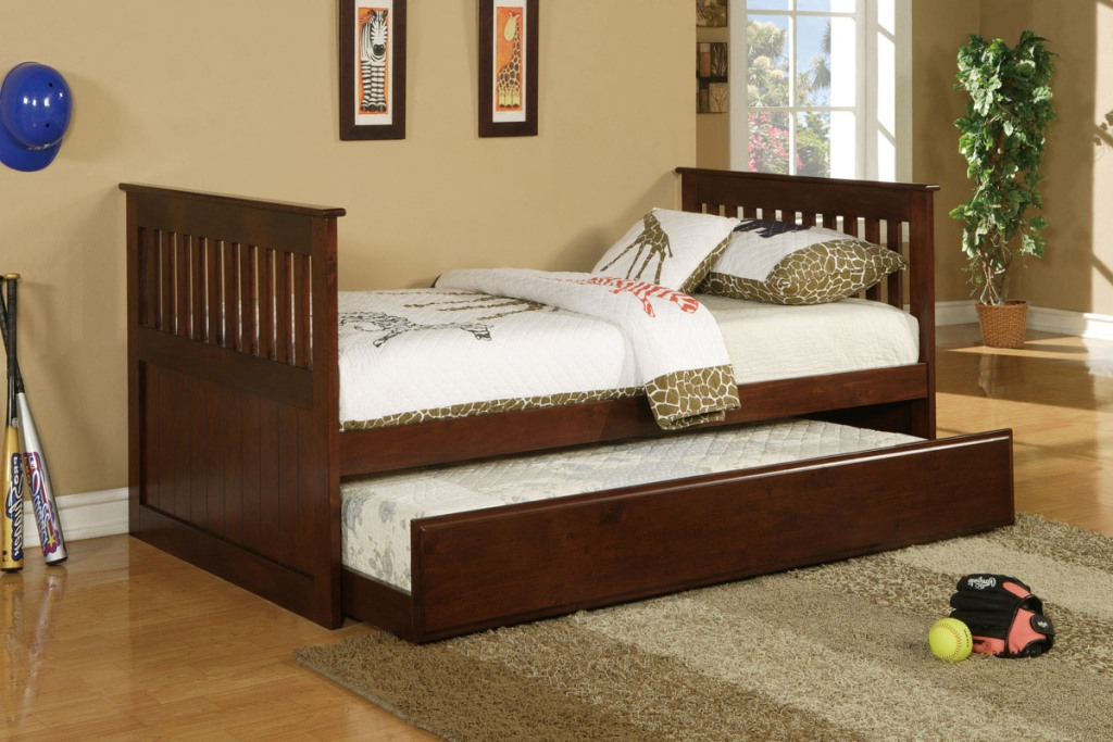 Image of: Popular Wood Twin Bed Frame
