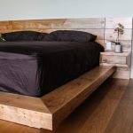 Rustic King Size Bed Frame with Headboard