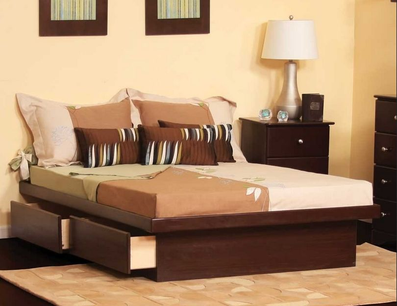 Image of: Stylish King Size Bed with Drawers