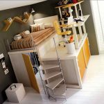 Stylish Queen Loft Bed Frame
