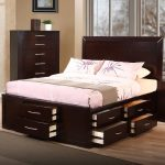 Tall King Size Bed Frame with Headboard
