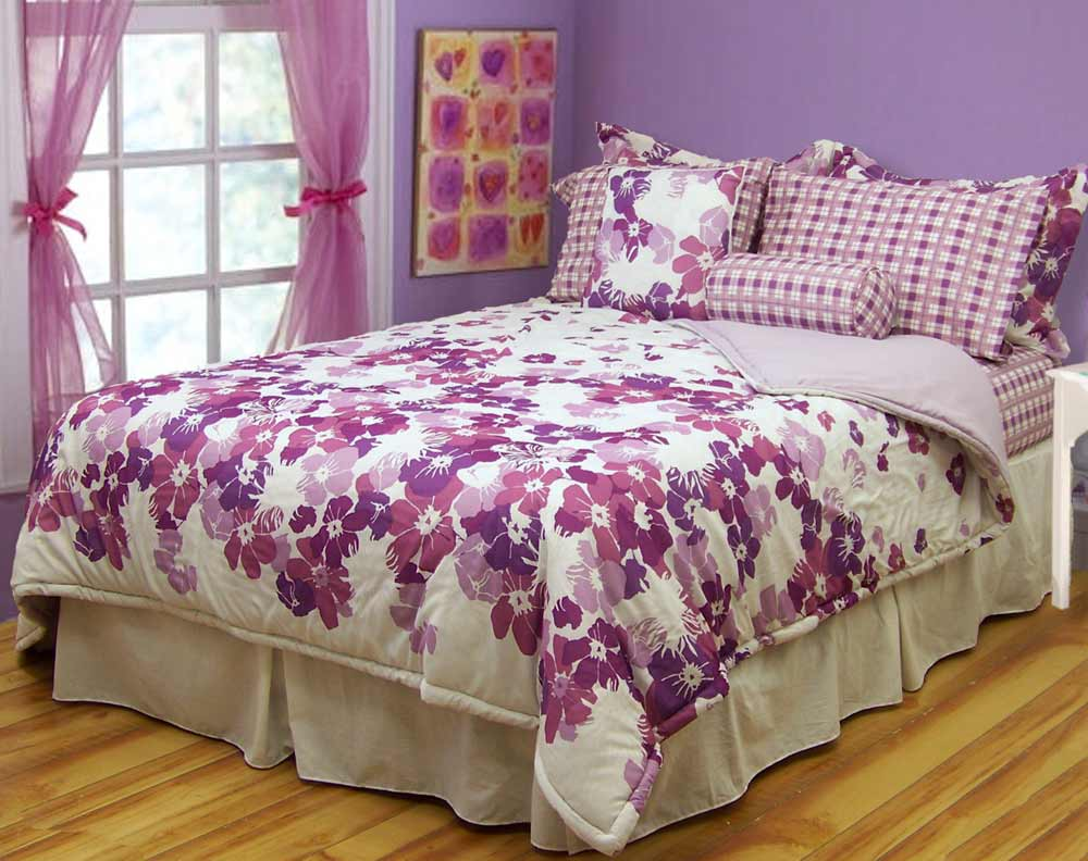 Image of: Target Teen Bedding and Curtains Purple