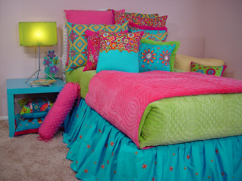 Teen Girls Bedding Turqoise And Pink